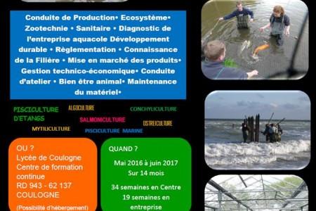Se former au métier de l'aquaculture
